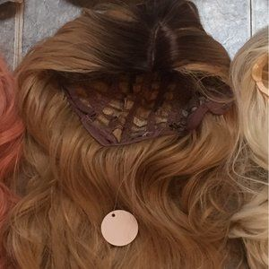 Light Brown Wavy Synthetic Wig
